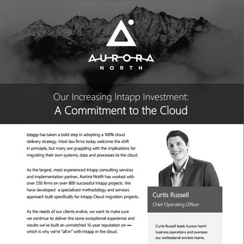 Article — Our Increasing Intapp Investment: A Commitment to the Cloud